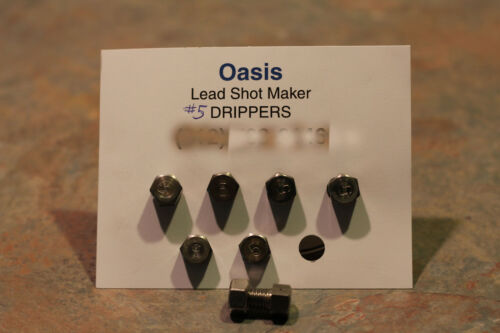Set of 7 Oasis Lead Shot Maker Drippers One Hole VARIOUS SIZES