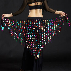 New-Belly-Dance-costumes-Hip-Scarf-Wrap-ceinture-jupe-paillettes-triangle-Hip-jupe