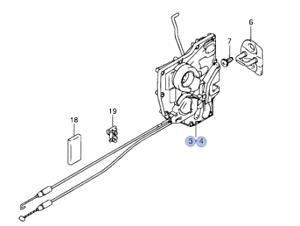 Genuine Suzuki Swift 05-11 5 Pestillo De La Puerta mecanismo de bloqueo delantero derecho 82201-62J13