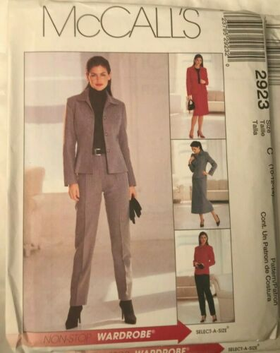 McCalls Sewing Pattern 2923 Ladies Loose Fit Jacket  8 10 12 14 16 18 20 22 24