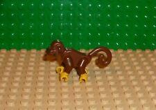 Lego Brown Monkey with Yellow Hands Banana Animal Land Pirates Rare 2550c01