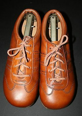 """VTG 1970s Women's Charm Step Leather Oxfords """"Earth"""" Shoes 6 1/2 NEW!! Cognac"""