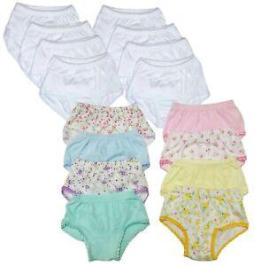Tancurry 3-8 Years Old Baby Girl Briefs Cotton Multicoloured 3 Pieces Soft Underwear