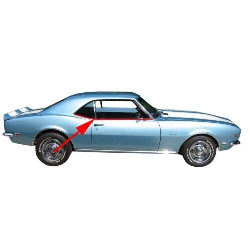 1968 Camaro Windowfelt With Rear Quarter Kit 8 pc Special Molding Hardtop OEM