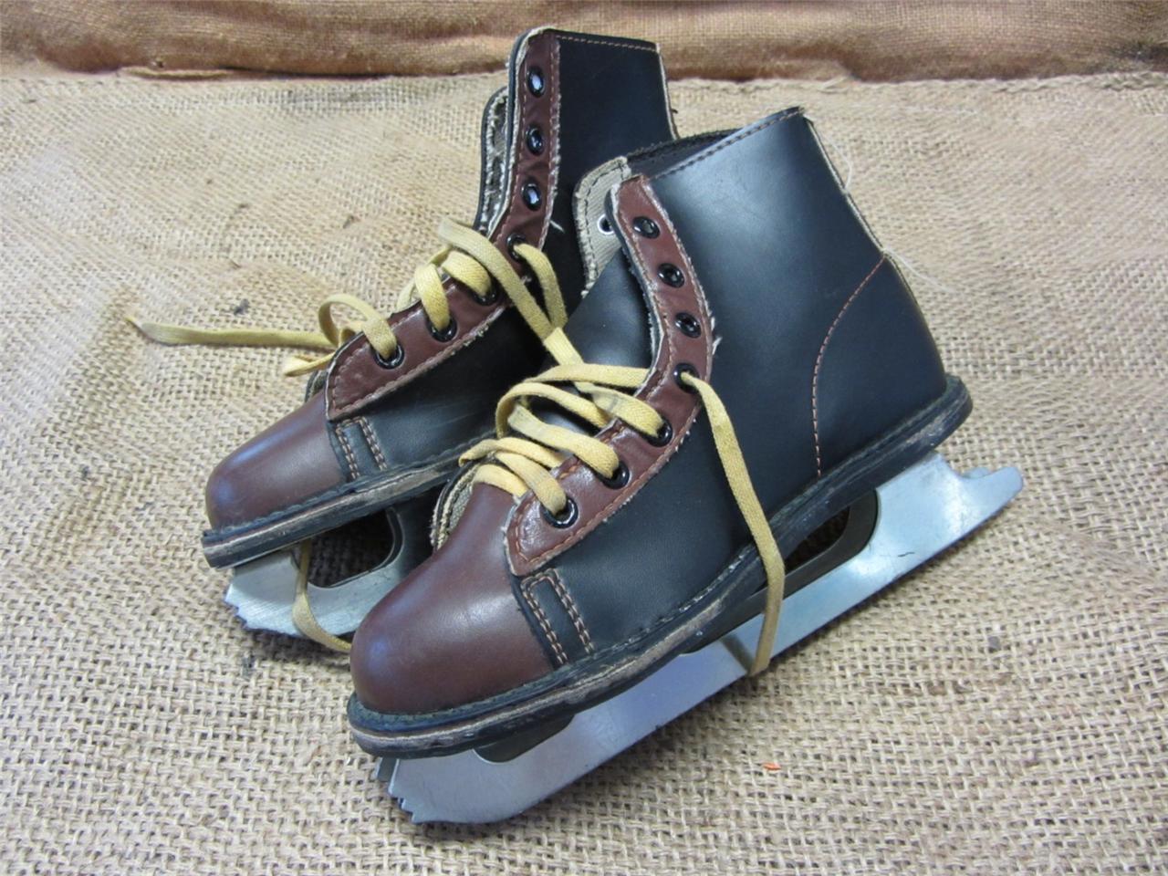 Vintage Ice Skates   Old Antique Skate scarpe Canada Riveted Roller 7297