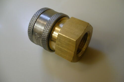 """3 Pk  3//8/"""" Female Brass Pressure Washer Quick Couplers 4500 psi"""