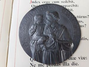 128) Big size medallion / medaille St Joseph and child Jesus by TRICARD