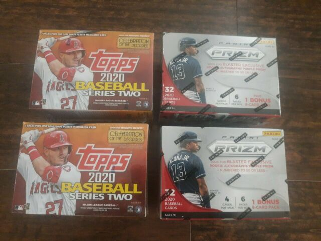 (2) 2020 TOPPS BASEBALL SERIES 2 Baseball + (2) PANINI PRIZM Retail Blaster Box