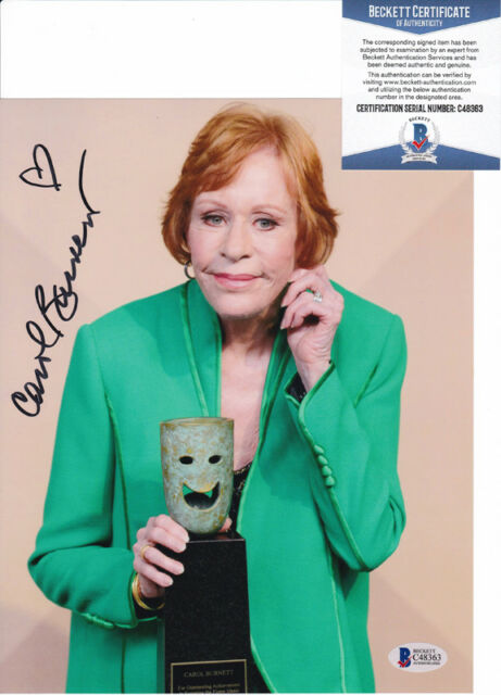 Carol Burnett Show Legend Signed Autograph 8x10 Photo Beckett BAS COA #8