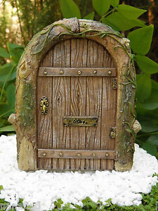 Image is loading Miniature-Dollhouse-FAIRY-GARDEN-Gnome -Resin-Mystical-Fairy- : gnome door - pezcame.com