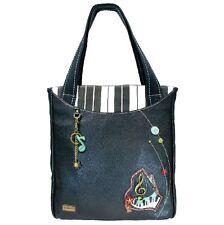 Charming Chala Purse Handbag Piano Striped Zip Tote G Cleff Bag