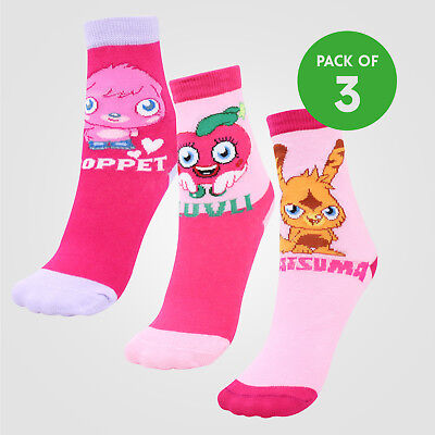 Girls 2 Pack Peppa Pig Pink Socks UK 12-2.5