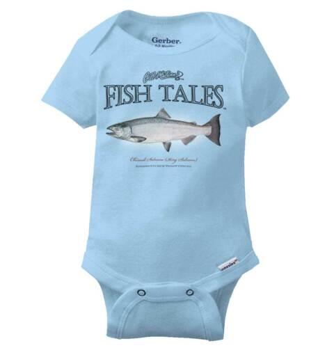 Alaska Chinook Salmon Gerber OnesieClassic Angler Fishing Hobby Baby Romper