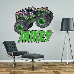 Charmant Image Is Loading MONSTER TRUCK PERSONALISED WALL STICKER Children 039 S