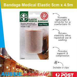 3x AU Bandage Medical Elastic 5cm X 4.9m First Aid Care