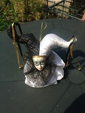Beautiful Porcelain Black & White Clown Head - Musical - Be a Clown - VGC
