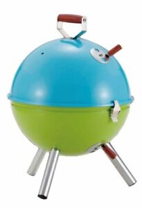 Captain-Stag-M-6374-Multi-BBQ-Stove-Blue-x-Green-Camping-Outdoor-Gear-from-Japan