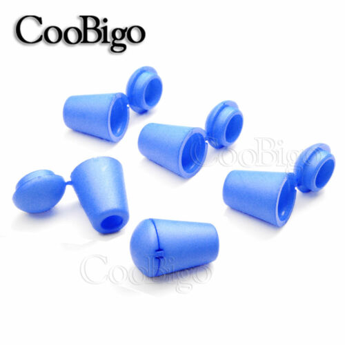 100X Plastic Toggle Clip Rope Colorful Bell Stopper With Lid Cord Lock Stopper