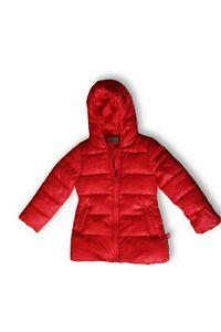 Details zu United Colors of Benetton Kinder Winter jacke rot Mädchen XS 110cm 4 5 Jahre