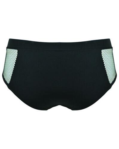 Pour Moi PM30010 Glamazon Bikini Bottom Boy Shorts in Black