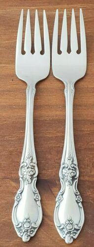 "2 x Oneida Louisiana Community Stainless Salad Forks 6 3//4/"""