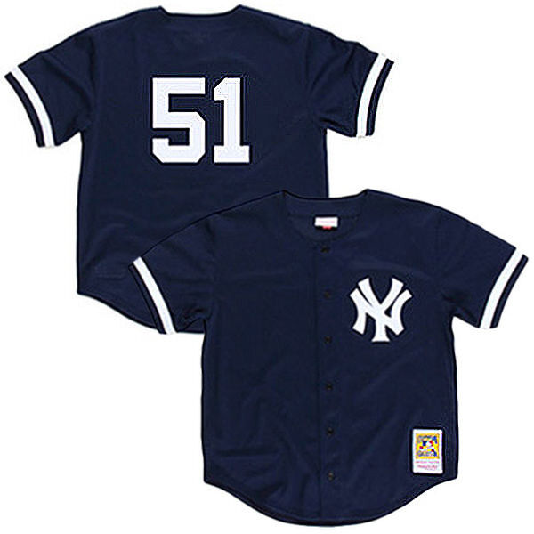 Mitchell & Ness MLB New York Yankees BP Button Down Jersey 1998 Bernie Williams