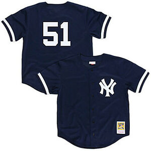 5c58a6ba7 Mitchell   Ness MLB New York Yankees BP Button Down Jersey 1998 ...