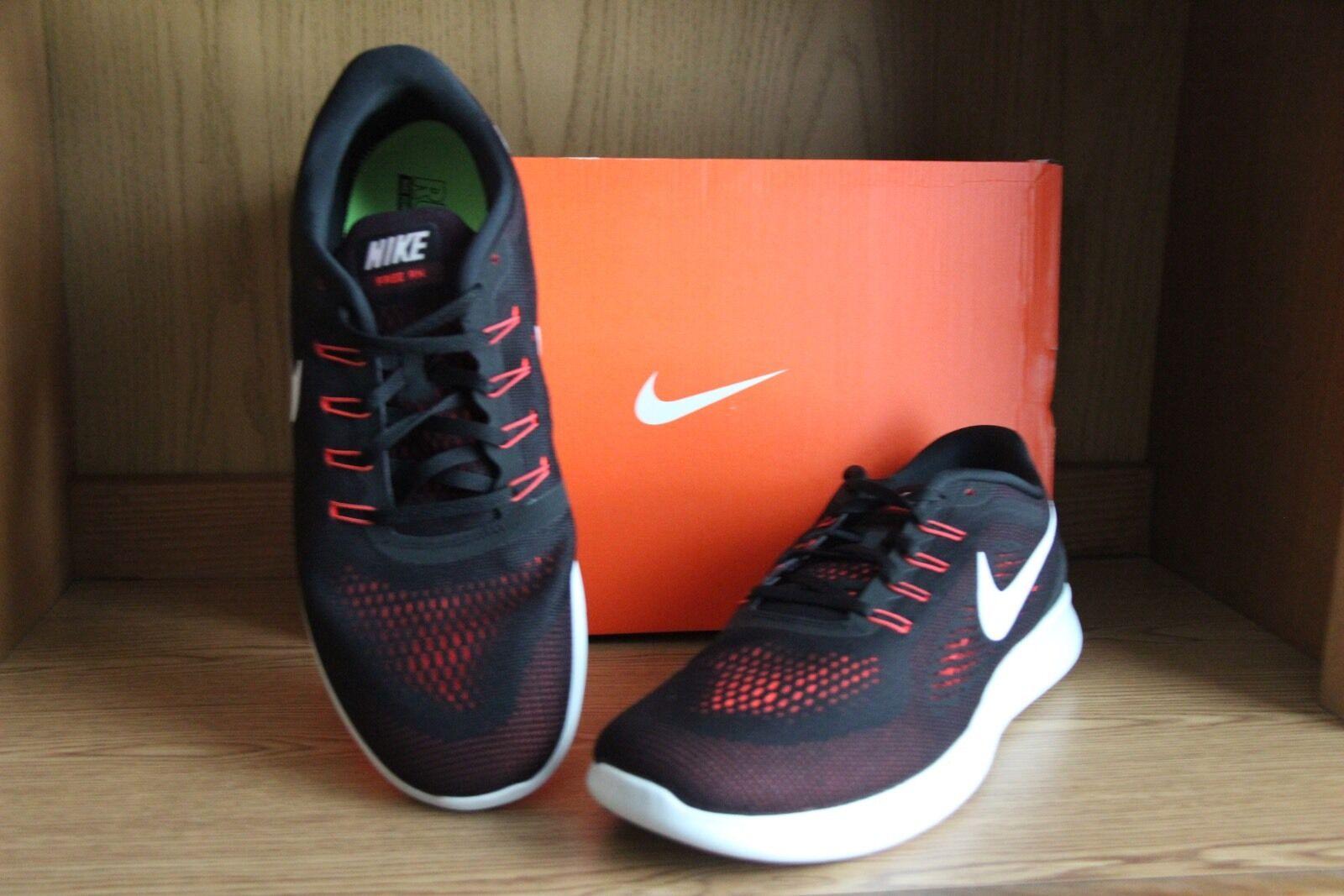 Wild casual shoes Nike Free RN Running Shoe Black/Orange Men Comfortable