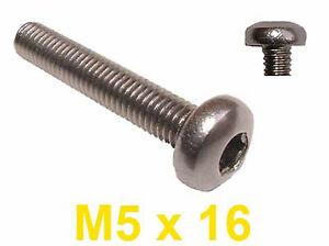 M5 x 16 Stainless Slot RAISED Countersunk Machine Screws 5mm x 16mm Raised x20