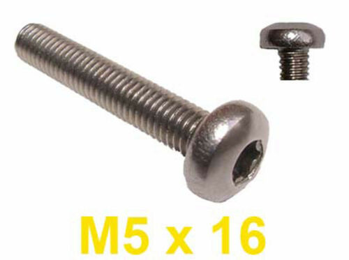 M5 x 16 Acier inoxydable pan head boulons Torx 5mm x 16mm Torx vis inoxydable x20