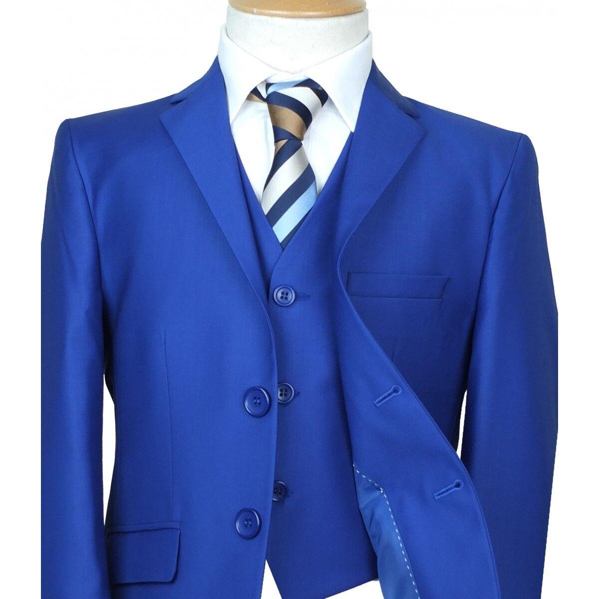 Royal Blue Boys Suit Italian Cut Pageboy Wedding Suits