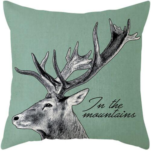 Printed Pillow Case Rose Plants Throw Cushion Cover Sofa Home Decor Pillowcase