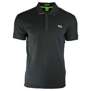 218d1b840 Hugo Boss Slim Fit Moisture Manager Stretch Cotton Blend Black Polo ...