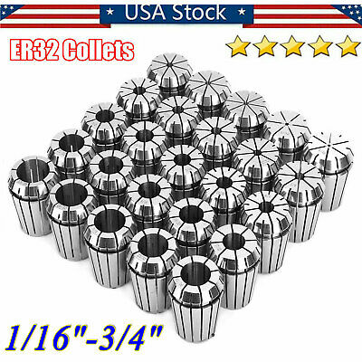 ER32 COLLET SET 22PC by 16th ACCURATE NEW INDUSTRIAL GRADE