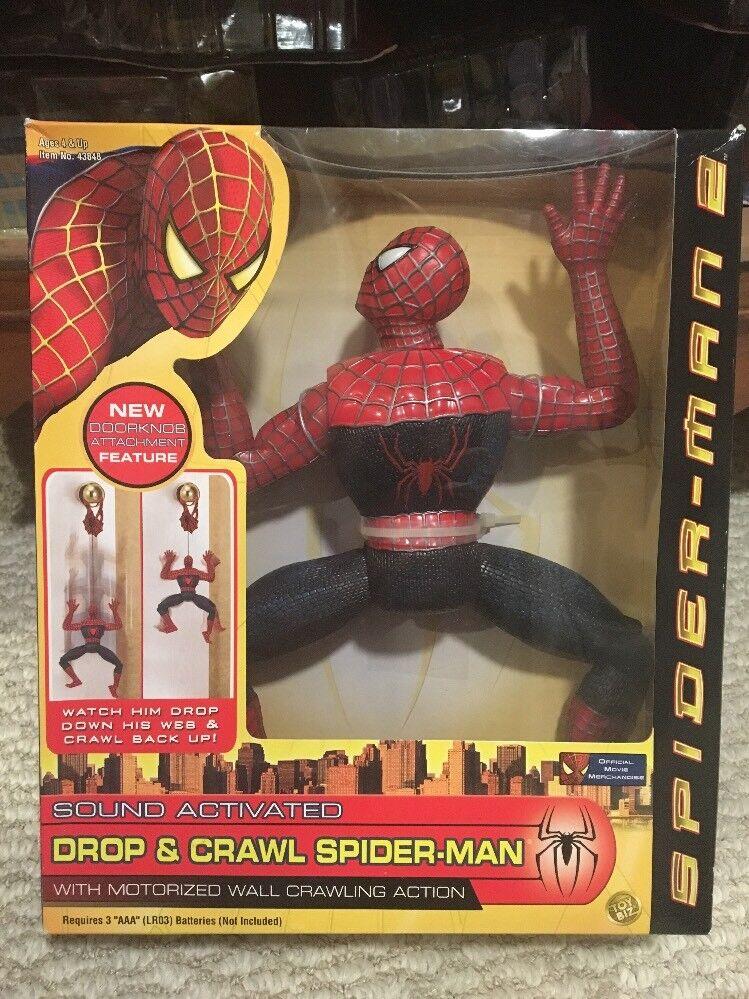 Marvel Spider-Man Spider-Man Spider-Man 2004 Drop & Crawl Spider-Man NIB d59f25