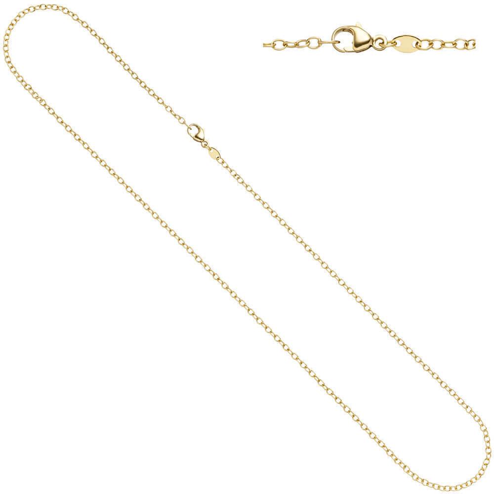2mm ancoraggio lontano catena catena collana collo gioielli 585 oro oro oro GIALLO 50cm catena d'oro 950b18