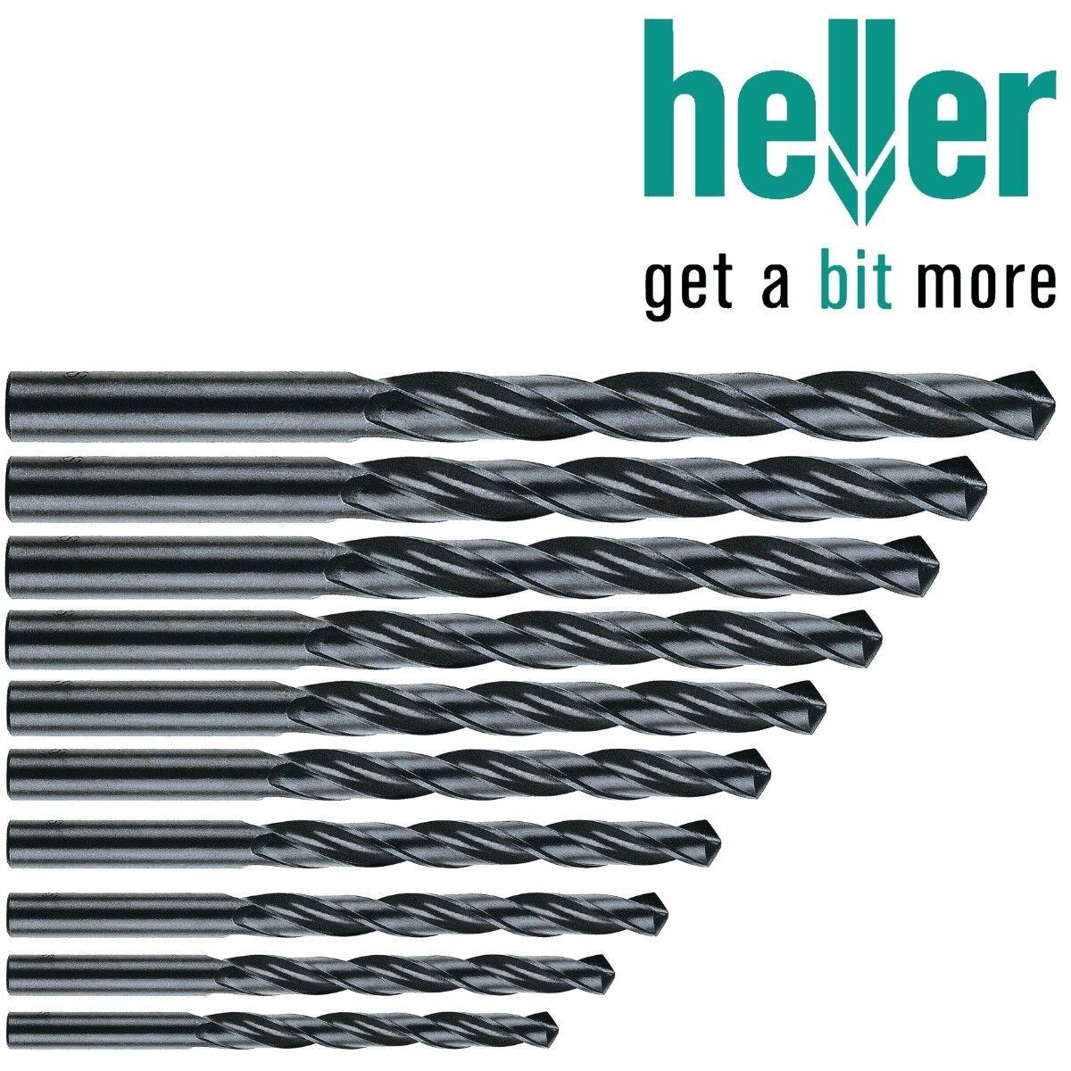 Heller 3.2mm HSS-R Twist Metal Drill Bits 10 Pack Rolled HSS Jobber German Tools