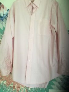 IZOD Pink Cotton L/S Casual Dress Shirt -  Discounted w Defect - Size M