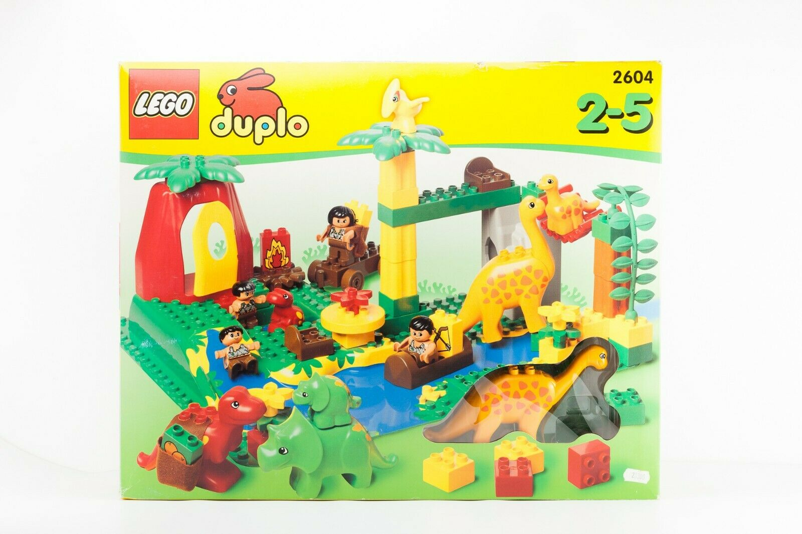 VINTAGE LEGO Rare Duplo Dinosaur Set 2604 Dino World Caveman 21  HUGE SEALED