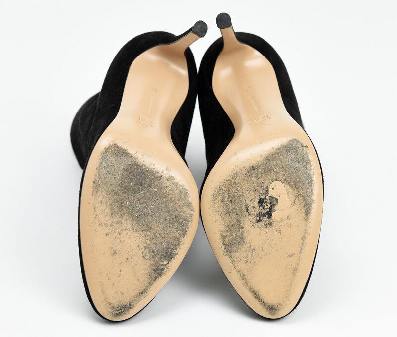 AUTHENTIC GIANVITO ROSSI CAMschwarz SUEDE StiefelIE Stiefel StiefelIES HEELS HEELS HEELS schuhe 37.5 7.5 f5dc2d