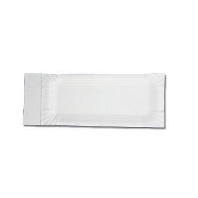 Pappteller 0,02€//Stk 1000 Stück mit Abriss 8x18cm 3cm Wurstpappe Bockwurst