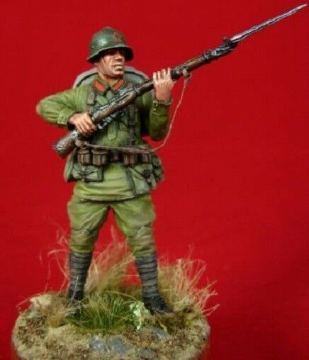 Tin soldier, Art, Russian soldier with rifle, Red Army, infantryman, WW2, 54 mm
