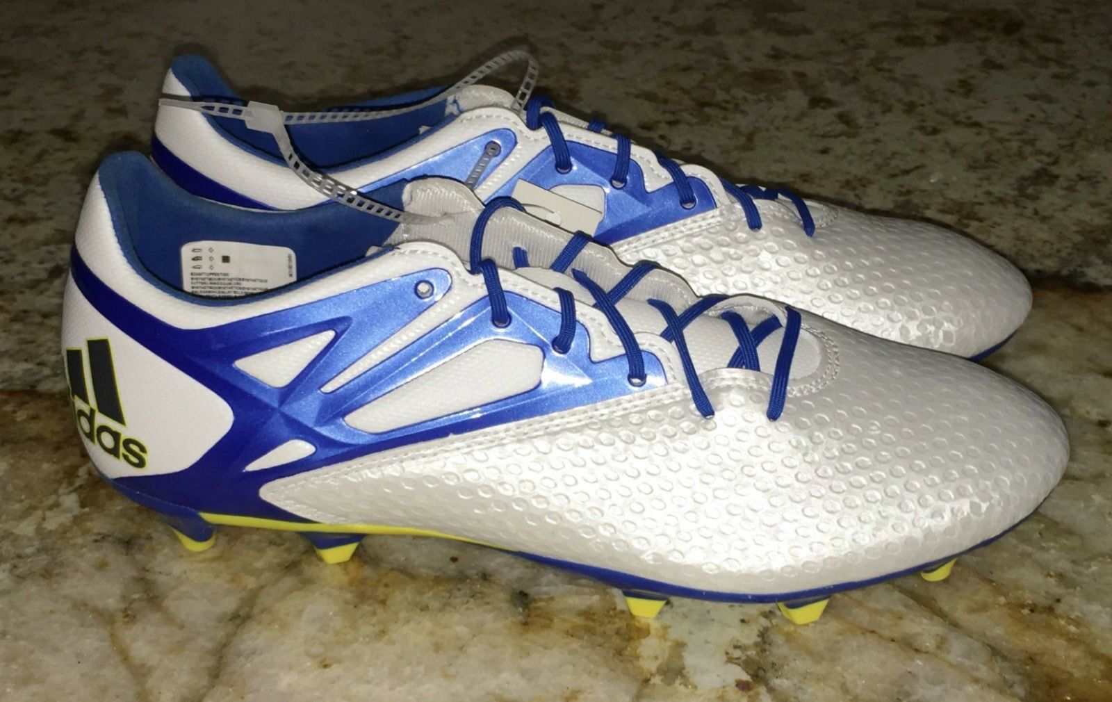 ADIDAS Messi 15.2 FG   AG Soccer Cleats Boots White bluee Black NEW Mens Sz 8.5