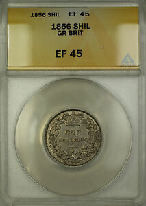 1856-Great-Britain-Silver-Shilling-Coin-ANACS-EF-45