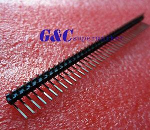 10pcs 1x40 Pin 2.54mm Right Angle Single Row Male Pin Header Connector
