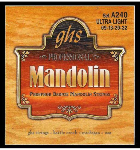 Jeu de cordes Phosphor Bronze Mandoline GHS A240 Ultra Light 09-32
