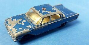 Vintage-Lesney-Matchbox-No-55b-Ford-Fairlane-PLP-Juguete-Diecast-Modelo-de-coche-de-la-policia