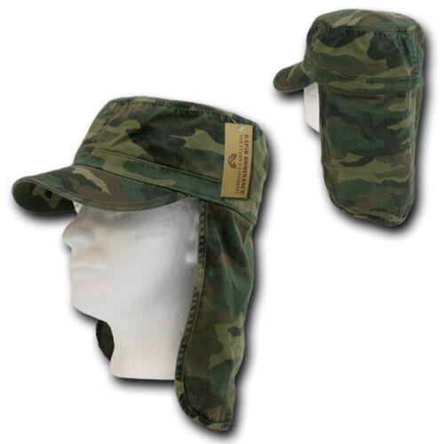 Woodland Camo Foreign Legion Fishing Boating Protector Cap Caps Hat Hats L//XL