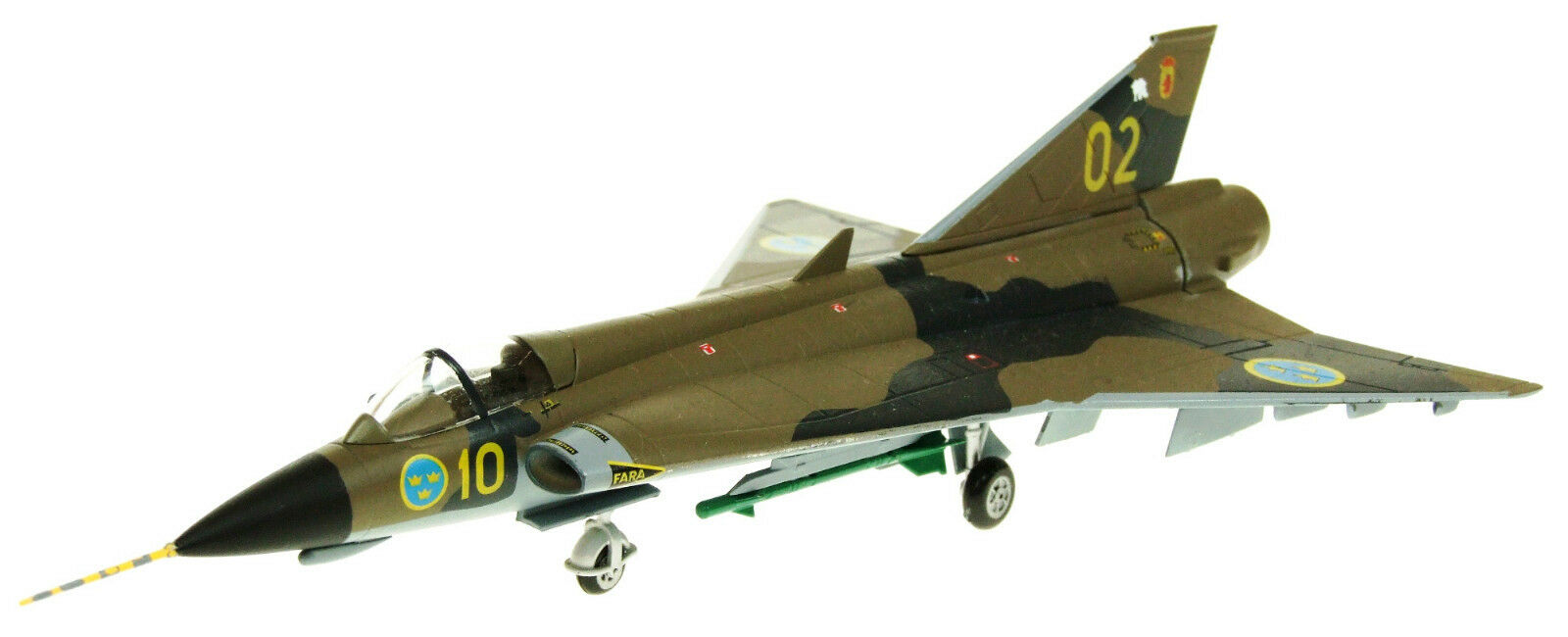 Aviation72 Av7241002 1 72 Saab Draken J35j 10 02 Suédois Force Aérienne
