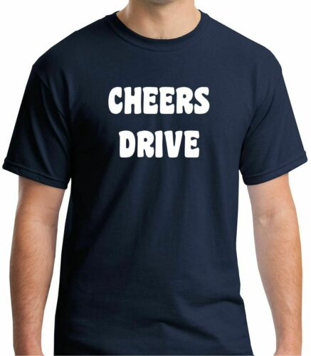 VARIOUS SIZES FREE P/&P Details about  /CHEERS DRIVE BRISTOL PRINTED BLACK OR RED T-SHIRT